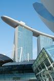 结构artscience海湾海滨广场博物馆沙子 库存图片