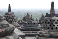 结构borobudur印度尼西亚寺庙 图库摄影