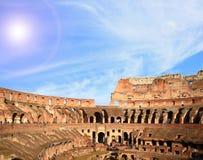 结构colosseum罗马 免版税库存图片
