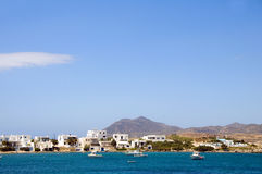 结构cyclades希腊港口芦粟pollonia 库存照片