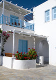 结构cyclades旅馆汽车旅馆 免版税图库摄影