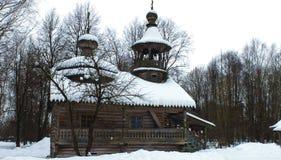 结构lviv博物馆木的乌克兰 免版税库存图片