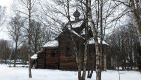 结构lviv博物馆木的乌克兰 免版税图库摄影