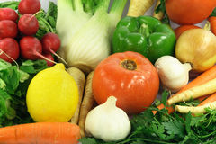 结果实ingradients香料蔬菜 免版税库存照片