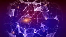 结节,财务的, cryptocurrency全球网络的样式,沟通 全世界信息交换  向量例证