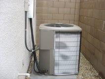 结霜的热泵 库存图片