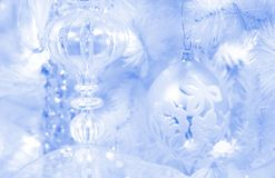 结霜的背景圣诞节 免版税库存图片