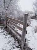 结霜的范围 库存照片