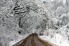 结霜的运输路线 库存图片