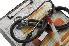 绘制医疗图表 免版税库存图片