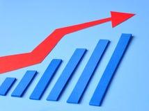 绘制增长图表 免版税库存照片