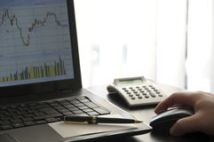绘制屏幕股票 免版税图库摄影
