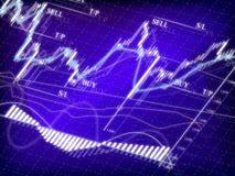 绘制市场股票 库存图片
