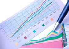 绘制成功图表 免版税库存照片