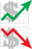 绘制汇率 免版税库存照片