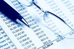 绘制特写镜头图表 免版税库存图片