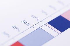 绘制百分比图表 免版税库存照片