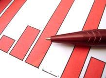 绘制笔红色 免版税图库摄影