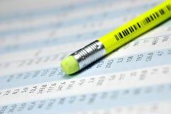 绘制股票图表 免版税库存图片