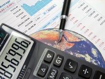 绘制股票图表 免版税图库摄影