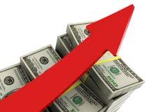 绘制货币上升图表 免版税库存图片