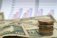 绘制货币 免版税库存照片