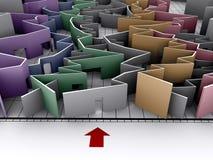 绘制迷宫图表 免版税图库摄影