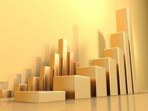 绘制金子图表 免版税库存图片