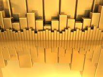 绘制金子图表 免版税库存照片