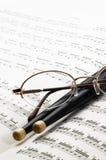绘制音乐图表 免版税库存照片