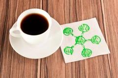绘制餐巾 免版税图库摄影