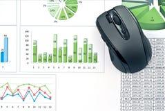 绘制鼠标个人计算机图表 免版税库存照片