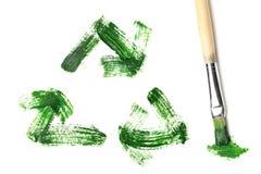 绘回收符号 免版税库存照片