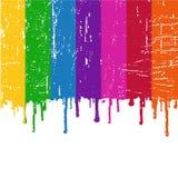 绘彩虹向量 免版税库存图片