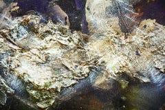 绘流动刷子冲程油漆蓝色银色绿色紫色创造性的背景  水彩油漆摘要背景 库存图片