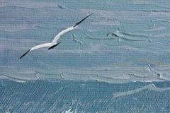 绘海鸥纹理 向量例证