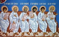 绘画圣徒墙壁 向量例证