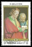 绘画圣约翰和圣皮特圣徒・彼得 库存照片