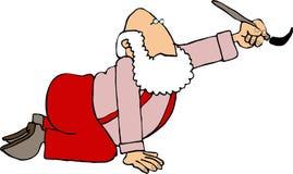 绘画圣诞老人 免版税库存照片