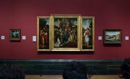 绘画在国家肖像馆的1月德比尔前在伦敦 免版税库存照片