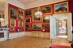 绘画在Gatchina宫殿的王位大厅里 库存照片