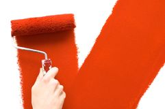 绘画墙壁 免版税库存图片