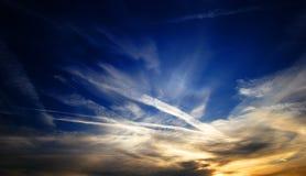 绘画天空 免版税库存图片