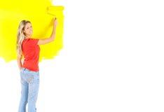 绘画妇女 免版税图库摄影