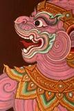 绘画寺庙泰国传统 免版税库存图片