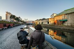 绘画小樽运河 免版税图库摄影
