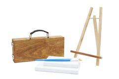 绘画工具箱 库存照片