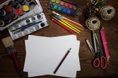 绘画工具 库存图片
