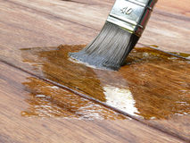 绘画木头 免版税库存照片