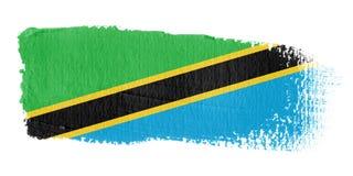 绘画的技巧标志坦桑尼亚 皇族释放例证